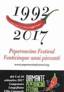Peperoncino Festival 2017 a Diamante. Il logo della manifestazione in Calabria.